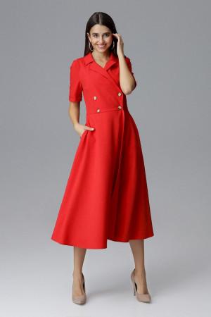 Dámské šaty M632 - Figl červená L-40