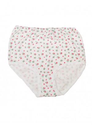 Dámské kalhotky Gucio 3XL-4XL A'5 bílá-květy 3XL