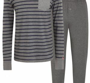 Pánské pyžamo 500008 - Jockey šedá s proužkem 3XL