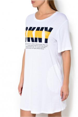Dámská noční košile YI2319475 - DKNY bílá s potiskem
