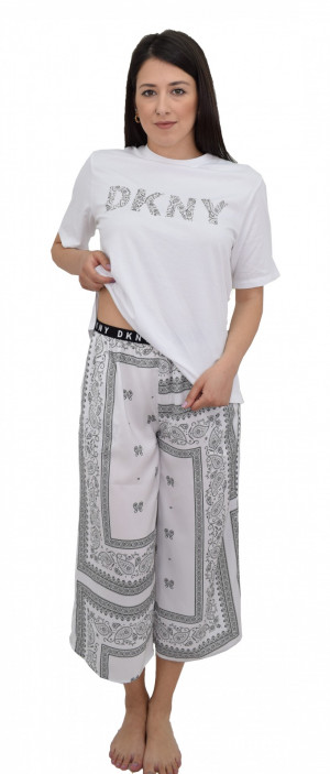 Dámské pyžamo YI2122407-101 bílá - DKNY bílá