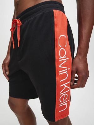 Pánské pyžamové šortky NM1800-001 černočervená - Calvin Klein černo-červená