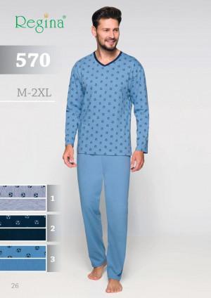 Pánské pyžamo 570 žíhaná