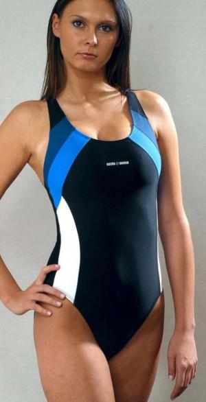 Jednodílné dámské plavky 715