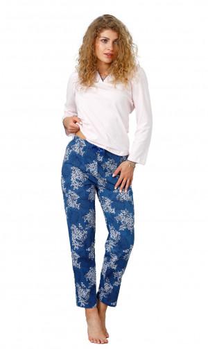 Dámské pyžamo M-Max Allegra 953 dł/r M-2XL jeans ciemny