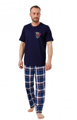 Pánské pyžamo  M-Max Amir 987 kr/r M-2XL bordó