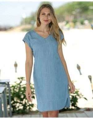 Dámské šaty - E207201 - Masana denim