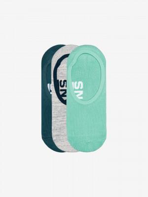 Ponožky 3 páry Vans Zelená