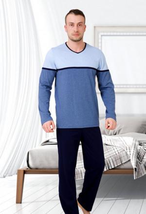 Pánské pyžamo 541 GASPAR žíhaná/šedá