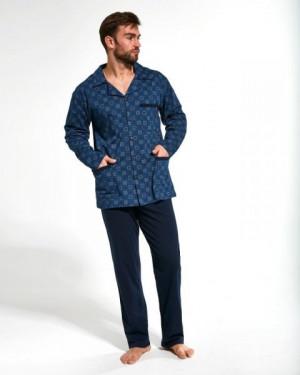 Cornette 114/44 Pánské pyžamo M tmavě modrá