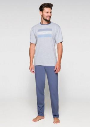 Regina 572 Pánské pyžamo plus size 3XL tmavě šedá melanž