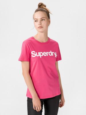 Flock Triko SuperDry Růžová