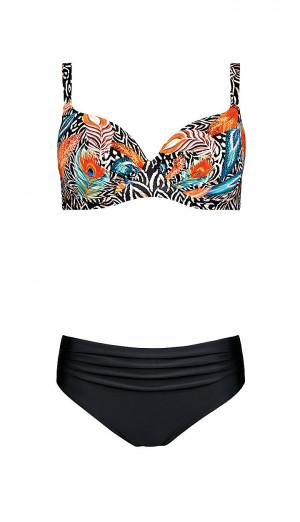 Dvoudílné dámské plavky S 940 PR20 - Self černá- MIX barev