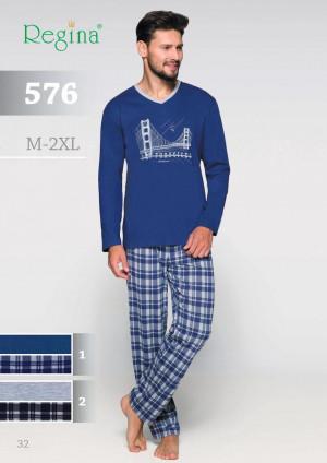 Pánské pyžamo 576 BIG žíhaná 2XL