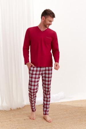 Dlouhé pánské pyžamo 2456 TYMON Z*20 bordó
