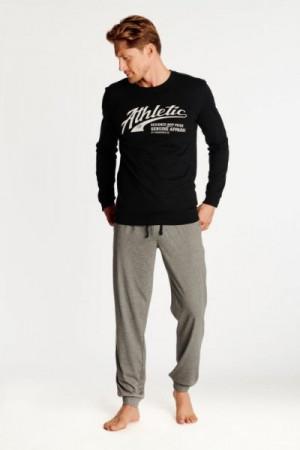 Henderson Optimist 38376-99X Pánské pyžamo L černo-šedá