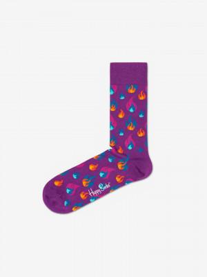 Flames Ponožky Happy Socks Fialová