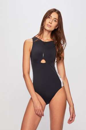 Jednodílné plavky KW0KW00824-BEH černá - Calvin Klein černá
