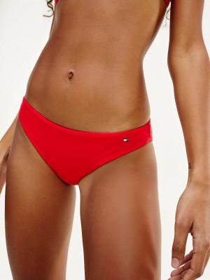 Spodní díl dámských plavek UW0UW02073-XL7 červená - Tommy Hilfiger červená