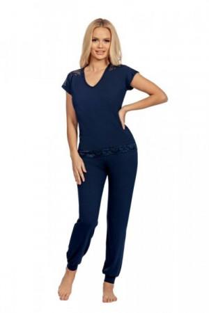 Donna Lena tmavě modré Dámské pyžamo XXL tmavě modrá