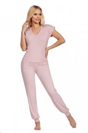 Donna Lena starorůžové Dámské pyžamo XXL starorůžová
