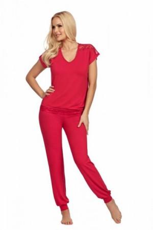 Donna Lena wineberry Dámské pyžamo XXL malinová