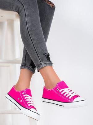 Krásné dámské růžové  tenisky bez podpatku