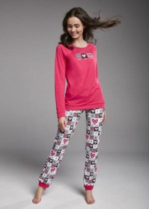 Cornette F&Y 156/30 You&Me Mládežecké pyžamo 158/XS růžová