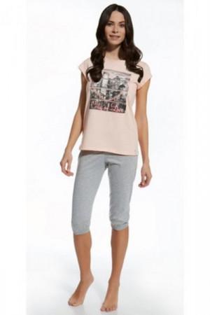 Cornette F&Y 581/22 City of Love Mládežnické pyžamo 158/XS růžová