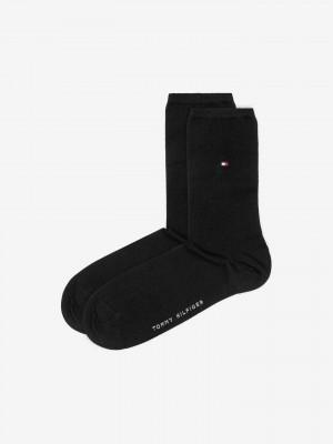 Ponožky 2 páry Tommy Hilfiger Černá