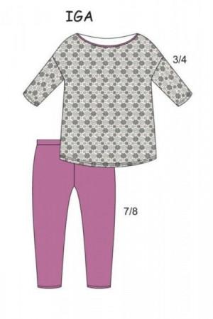 Cornette 147/157 Iga Plus Dámské pyžamo 3XL šedá