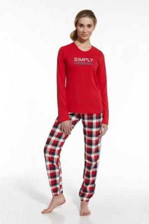 Cornette 673/42 Simply Together Dámské pyžamo XL červená