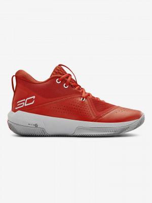 SC 3ZERO IV Basketball Tenisky Under Armour Červená