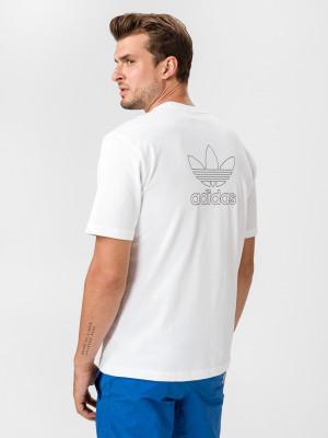 B+F Trefoil Triko adidas Originals Bílá
