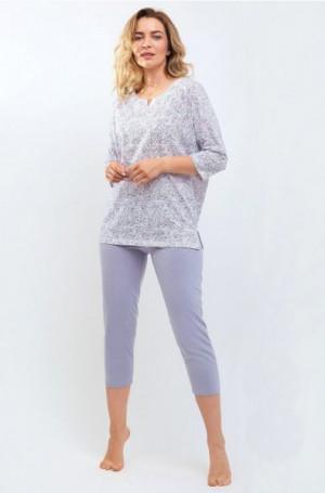 Cana 533 Dámské pyžamo S bílá-světle šedá