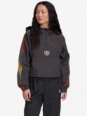 Adicolor Half-Zip Crop Top Bunda adidas Originals Černá