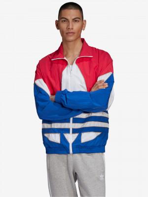 Big Trefoil Outline Woven Colorblock Bunda adidas Originals Modrá