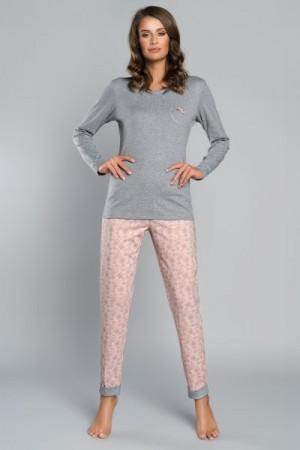 Italian Fashion Trina Dámské pyžamo S melanż/łosoś