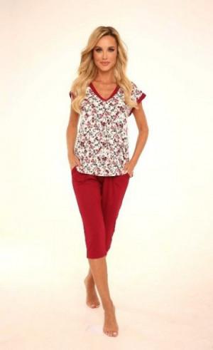 De Lafense 489 Mia Dámské pyžamo XL bordová