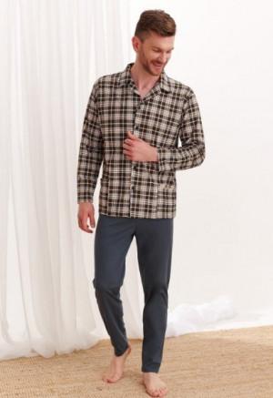 Taro Gracjan 788 Pánské pyžamo super size plus 4XL grafitová (tmavě šedá)