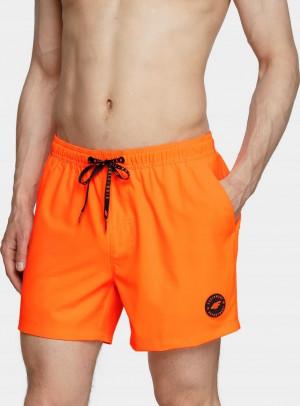 Pánské plavkové šortky 4F SKMT001 oranžové oranžová