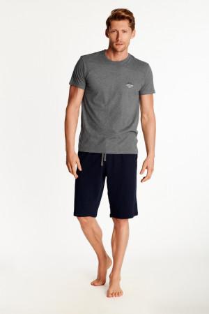 Pánské pyžamo ZILLA 38361 tamvě šedá-tmavě modrá