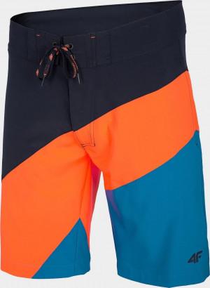 Pánské koupací  šortky 4F SKMT005 Oranžové Oranžová