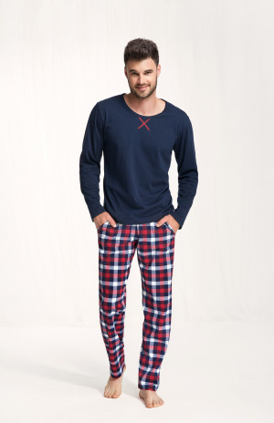 Pánské pyžamo 717 tmavě modrá
