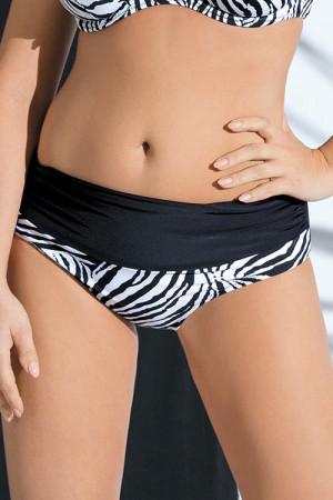Dámské plavkové kalhotky SF-19 - Ava černo - bílá