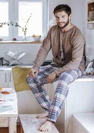 Pánské pyžamo MNS 041 B19 mocca