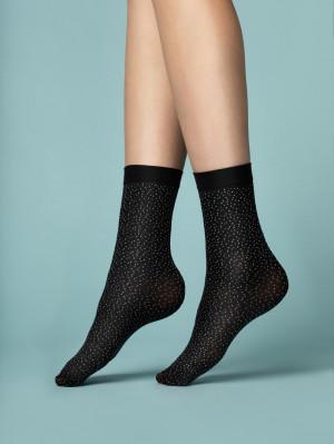 Ponožky PEPE BIANCO - 40 DEN černá/bílá UNI