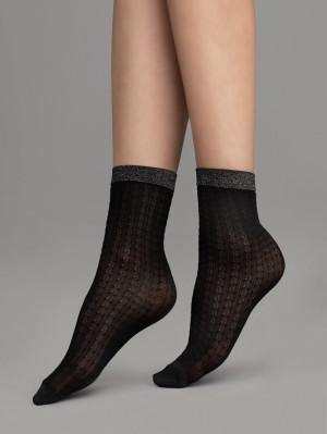 Dámské ponožky JAZZ, 60 DEN černá/lurex UNI