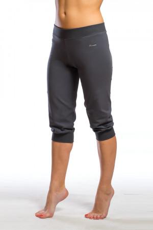 Kapri kalhoty se stahovacími lemy 0206 šedá-žíhaná