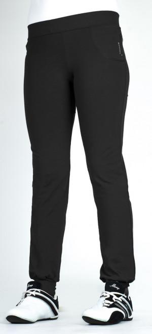 Dlouhé dámské kalhoty 0110 šedá-žíhaná XXL/30